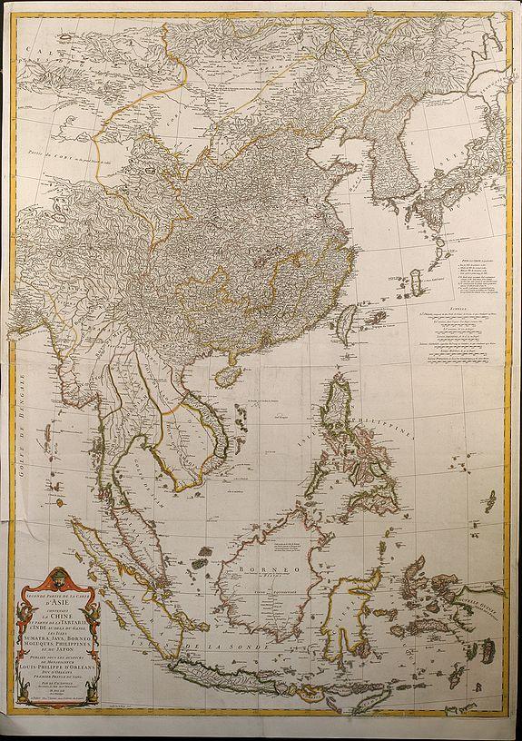 Seconde partie de la carte d'asie contenant la chine et partie de la