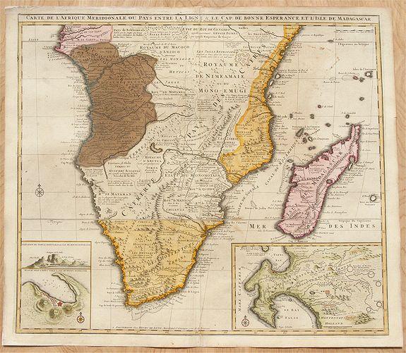 Carte De Lafrique Map.De Leth Carte De L Afrique Meridionale Ou Pays Entre La