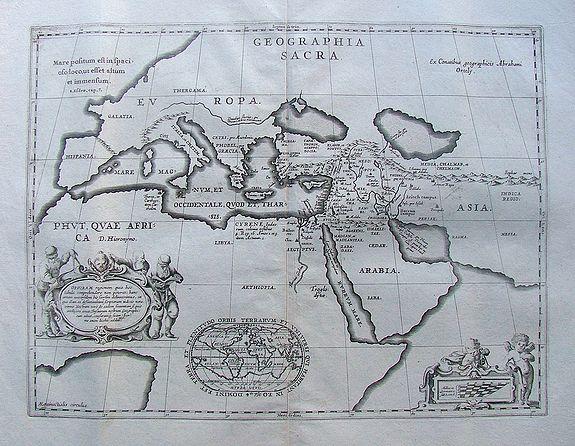 JANSSONIUS, J. / HORNIUS - Geographia sacra.