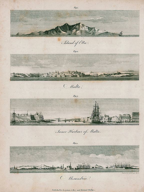 LONGMAN & REES - Elba, Malta, Alexandria.