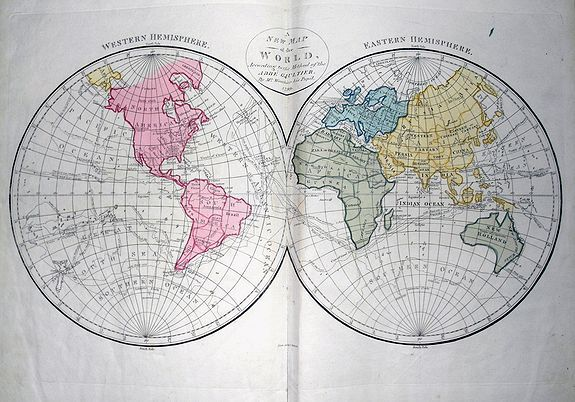 GAULTIER, A. - A complete course of Geography, by means of instructive games...