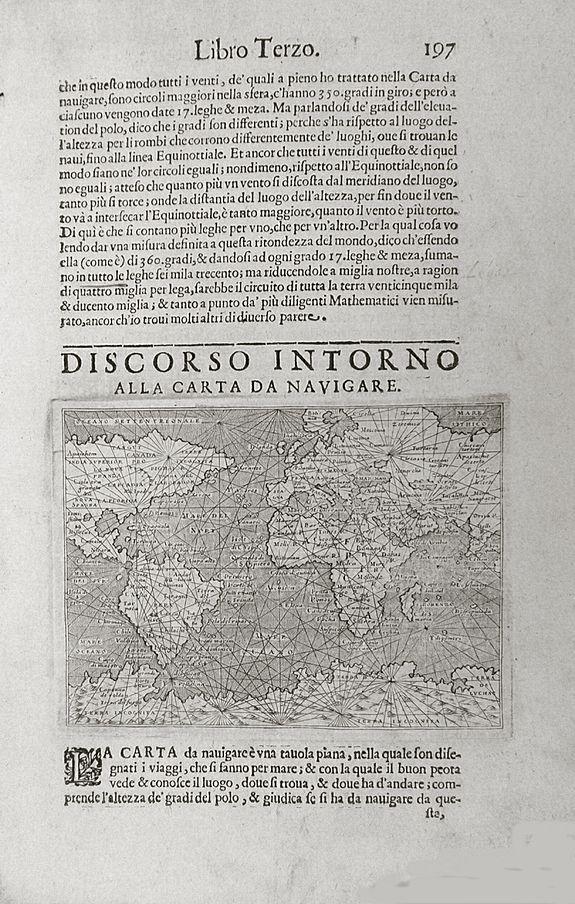 PORCACCHI, T. - Discorso Intorno all Carta da Navigare' by Tommaso Porcacchi.