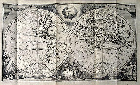 AA VAN DER, P. - Orbis Terrarum Nova et Accuratissima Tabula.