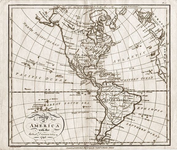 Samuel John Neele - Map of America with the latest Discoveries 1795.