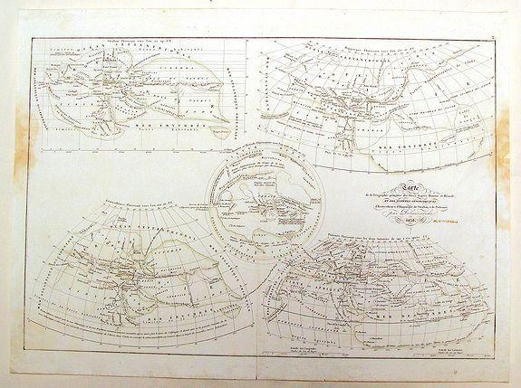 DELAMARCHE, C. - Carte de la Geographie Primative des Grecs d'apres Homere et Hesiode