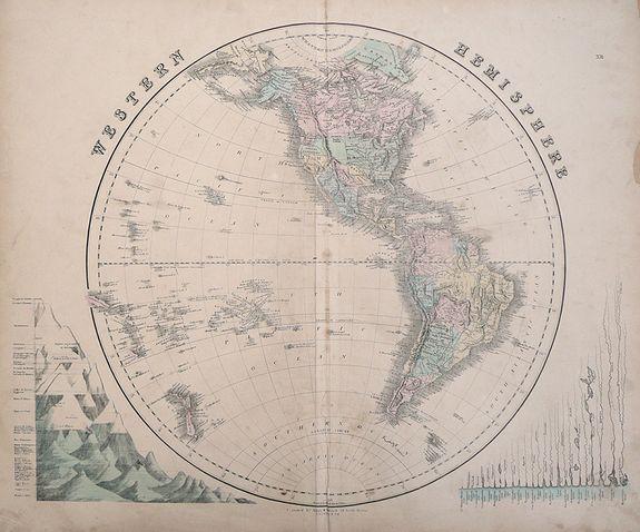 Gall & Inglis - Western Hemisphere & Eastern Hemisphere.
