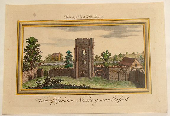 BUCK, S & N., View of Godston Nunnery Near Oxford., antique map, old maps