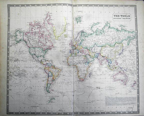 PHILIP, G. & SON - The World on Mercators Projection.