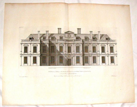 CAMPBELL, C. - The Elevation of Althrop in Northampton Shire.