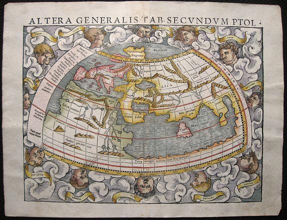 MÜNSTER, S. - Altera generalis tab. Secundum Ptol.
