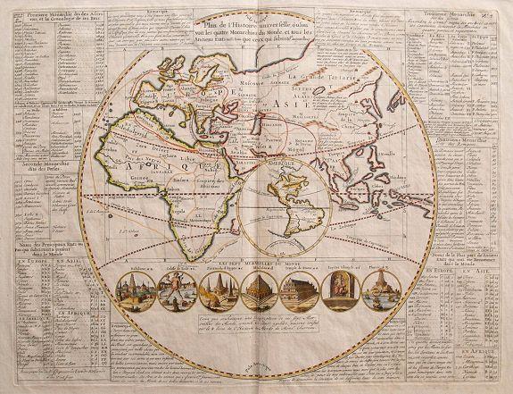 CHATELAIN, H. - Plan de l' Histoire Universelle, oulon voit les quatre Monarchies du Monde , et tous les Anciens Etats, aussi bien que ceux qui subsistent aujourdhuy.