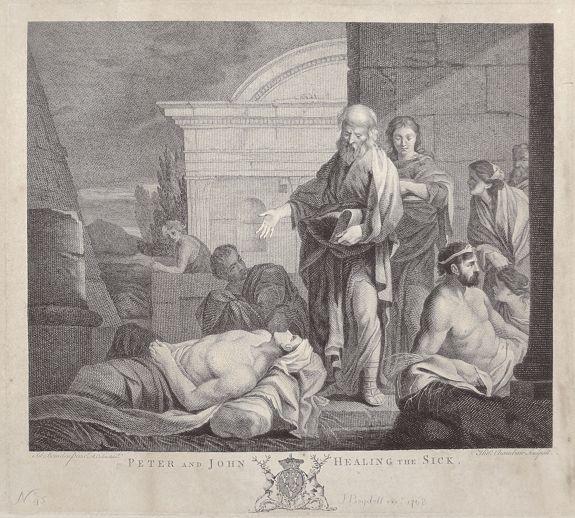 BOYDELL, J. - Peter and John Healing the Sick.