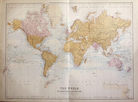 BARTHOLOMEW, J. - The World On Mercators Projection showing 'The British Possessions throughout the World'.