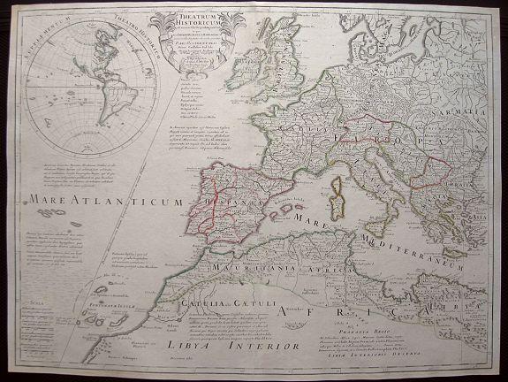 DE LISLE, G. - Theatrum Historicum .. Romani tu Barbarorum.. Pars Occidentalis..