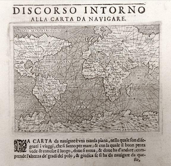 PORCACCHI, T.  - Discorso Intorno all Carta da Navigare.