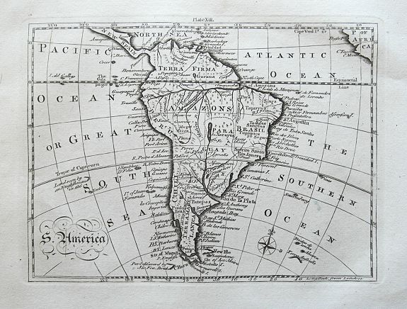 BELL, A., S. America., antique map, old maps