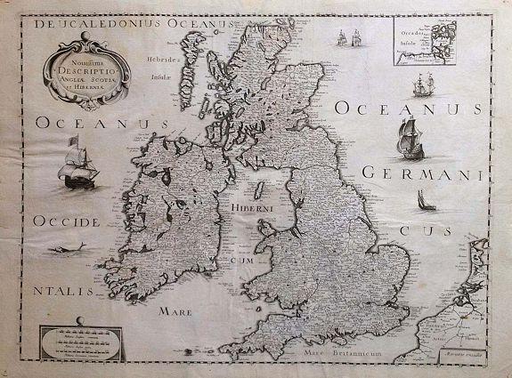 SANSON, N.  / MARIETTE, P. - Novissima descriptio Angliae Scotiae et Hiberniae.