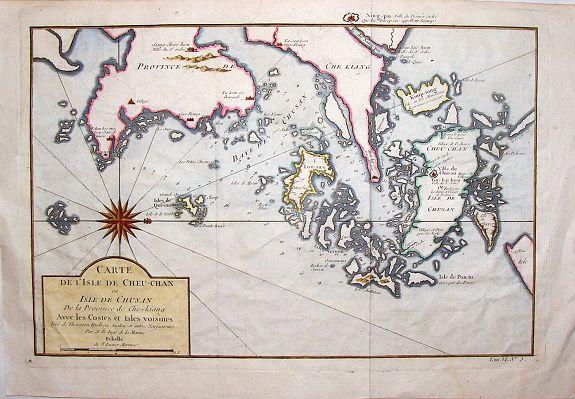 BELLIN, J. - Carte de L'isle de Cheu-Chan.
