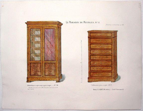 QUETIN, V. - Le Magazin de Meubles No. 2 - Meubles Ordinaires pl. 45.