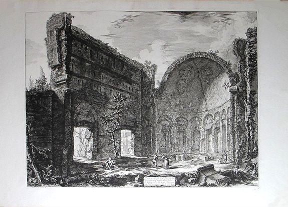 PIRANESI, Giovanni Battista. - Avanzi di una Sala appartamente al Castro Pretorio nella Villa Adriana in Tivoli.