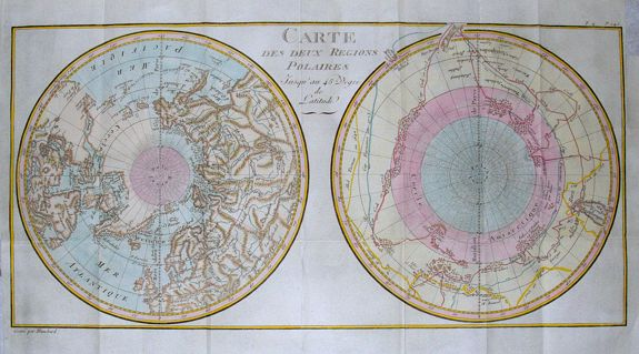 BUFFON, G. - Carte Des Deux Regions Polaires...