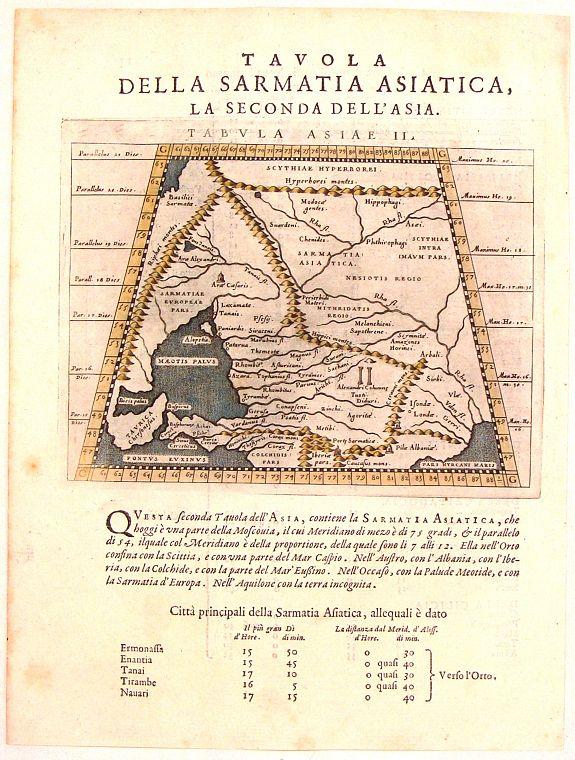 MAGINI, G. - Tavola Della Sarmatia Asiatica, La Seconda Del L'Asia.