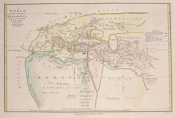 WILKINSON, Robert / Bourne,  E. - Ancient World according to Herodotus.
