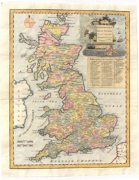 SENEX, J. - An Accurate Map of Great Britain from the latest & best Observations.