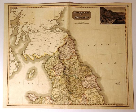 THOMSON, J., Northern Part of England., antique map, old maps