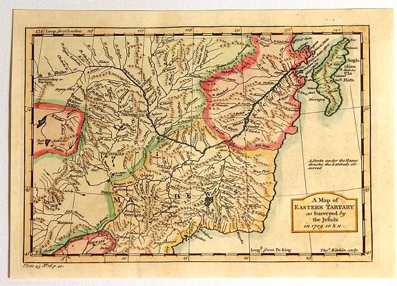KITCHIN, T. - A Map of Eastern Tartary as Surveyed by the Jesuits in 1709, 1710 & 1711.