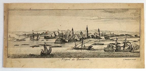 PEETERS, J., Tripoli de Barbaria., antique map, old maps