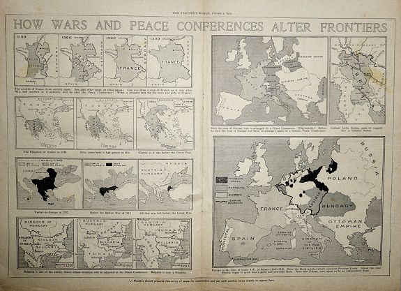 The Teacher's World. - HOW WARS AND PEACE CONFERENCES ALTER FRONTIERS - 1919