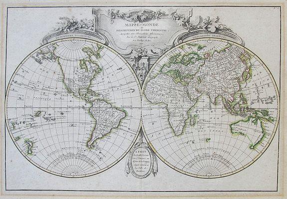 JANVIER, J. - Mappe-Monde ou Description Du Globe Terrestre…