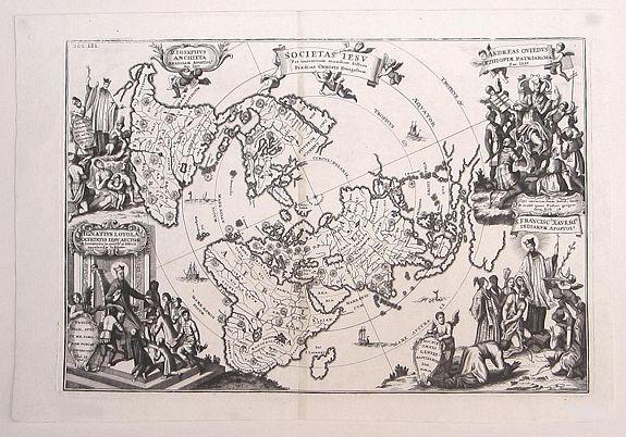SCHERER, Heinrich - [World Polar Projection with insular California.]