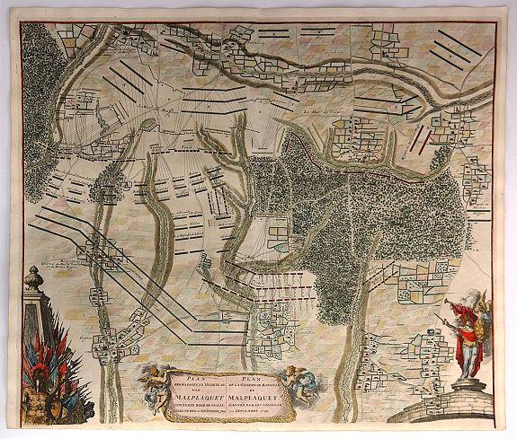 DUMONT, J., - Plan der Glorieuse Veldislag van Malplaquet