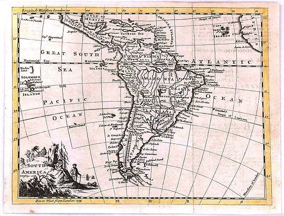 JEFFERYS, T.,, South America, antique map, old maps