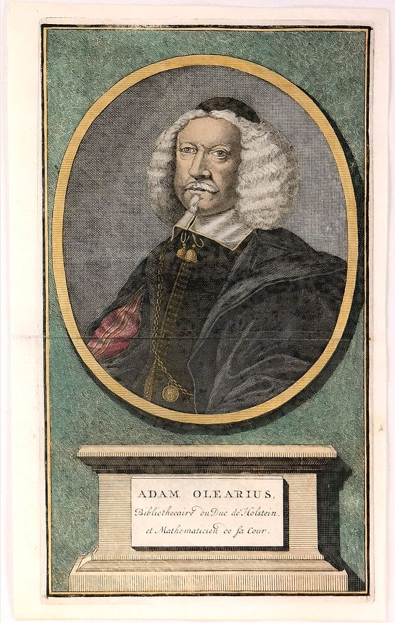 ANONYMOUS. - Adam Olearius , Bibliothecaire du Duc de Holstein.