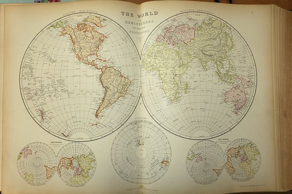 Blackie & Son.  - The Comprehensive Atlas & Geography of the World 1882 Blackie & Son