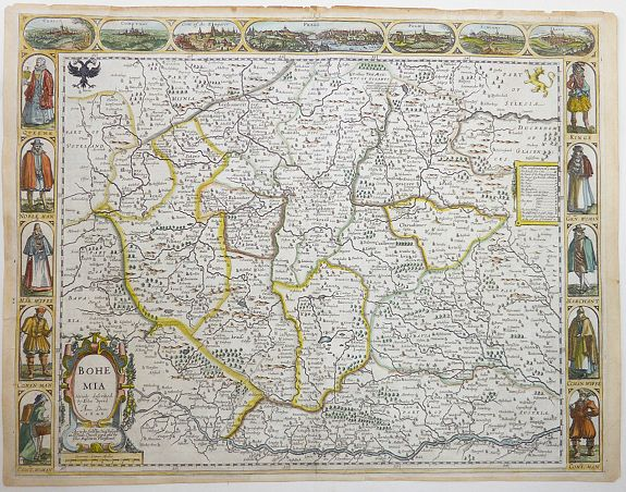SPEED, John, Bohemia Newly described., antique map, old maps