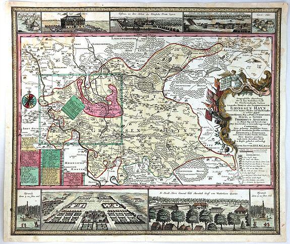 SEUTTER, M. - Geographische Abzeichnung der Dioeces Grossen Hayn …