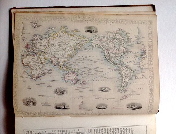 TALLIS, J. - The Illustrated Atlas and Modern History of the World.