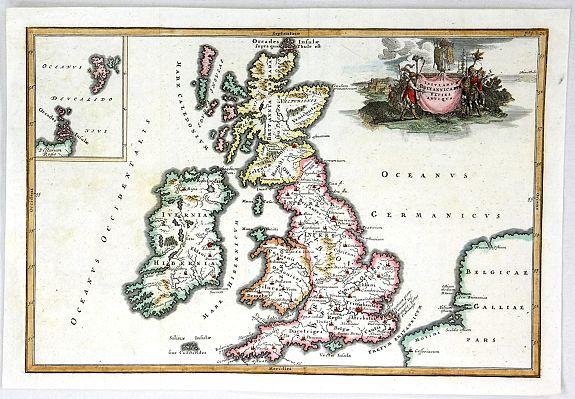 CELLARIUS, C. - Insularum Britannicarum Facies Antiqua