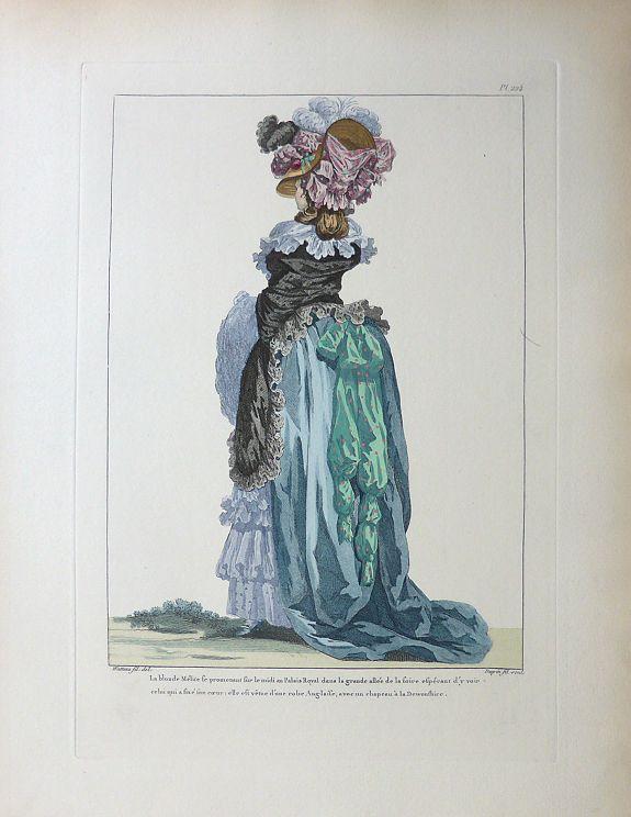 François Louis Joseph Watteau. - [4 prints] Gallerie des Modes et Costumes Français Desinés D'Apres Nature.