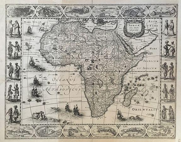 HONDIUS, J. - Africae Nova Tabula.