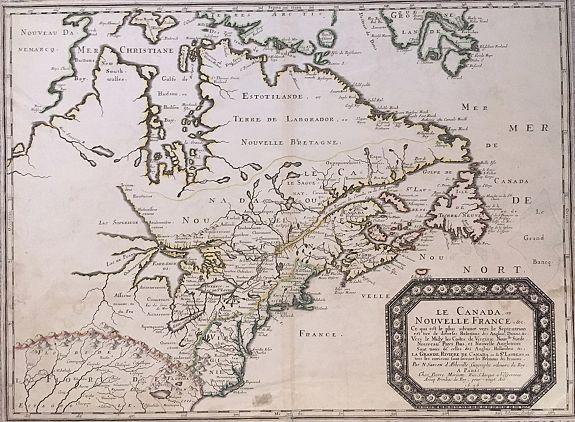 SANSON, Nicolas. - Le Canada ou Nouvelle France &c.