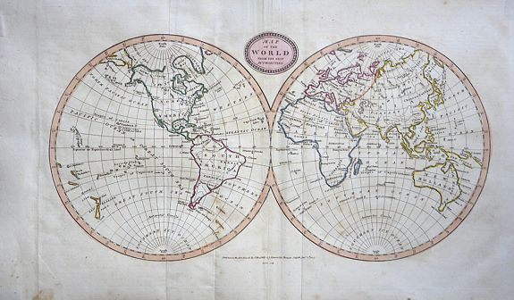 BARLOW, James - Map of the World from the Best Authorities.