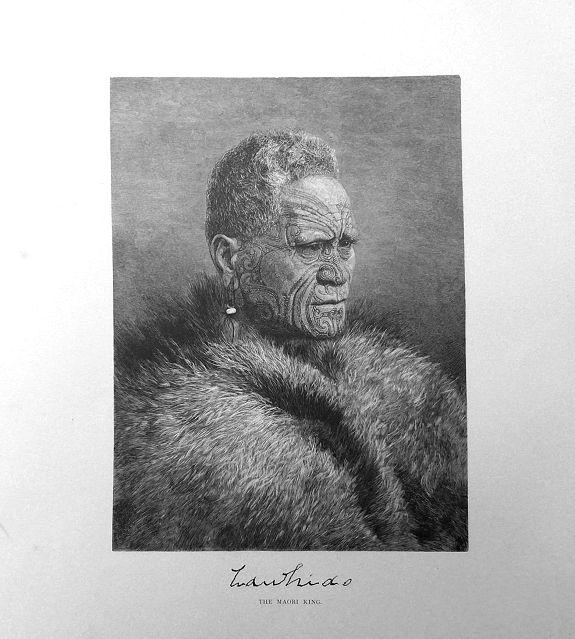 Frederic B. Schell.  - Tawhiao The Maori King.