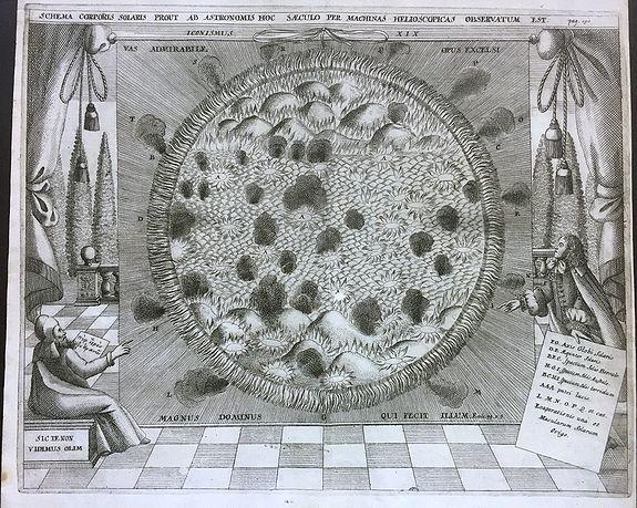 ZAHN, J. - Schema corporis solaris prout ab astronomis hoc saeculo per machinas helioscopicas observatum est.