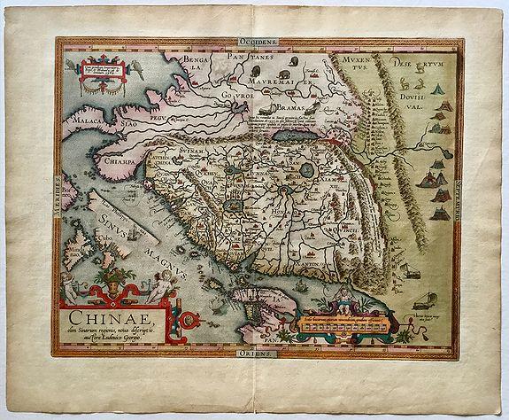 ORTELIUS, A. - Chinae Olim Sinarum Regionis Nova Descriptio auctore Ludovico Georgio.