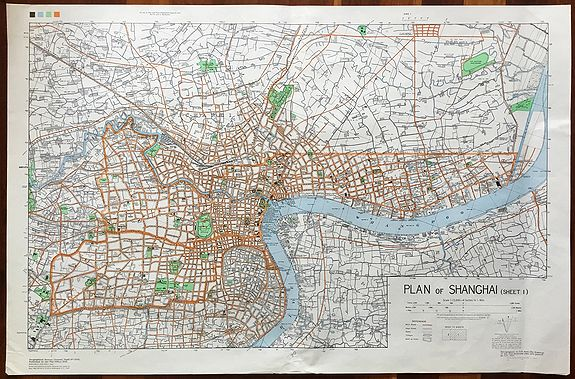 Old Map By US Army Map Service Plan Of Shanghai Sheet - Shanghai on map with us